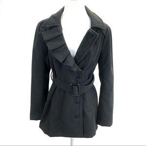 New York & Company pea coat black - size Medium